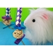 Jester toy for guinea pigs - edible with hay with white piggy
