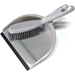 Silver Dustpan and Whiskbroom Set
