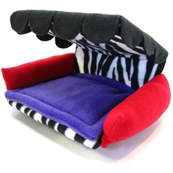 Flippin' Fun Futon! - Zebra with red/purple/scallops