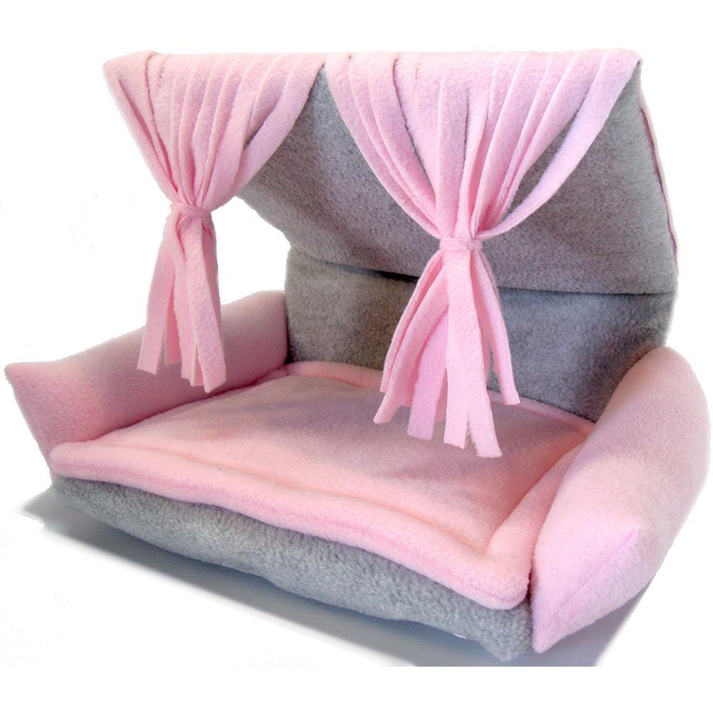 Flippin Fun Futon Topper In Soft Pink Fringe