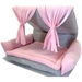 Flippin' Fun Futon in Pink and Gray