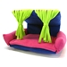 Flippin' Fun Futon Topper in Lime Fringe