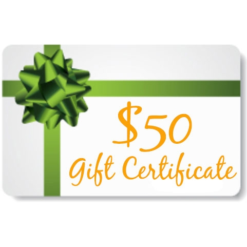 Gift certificate for $50