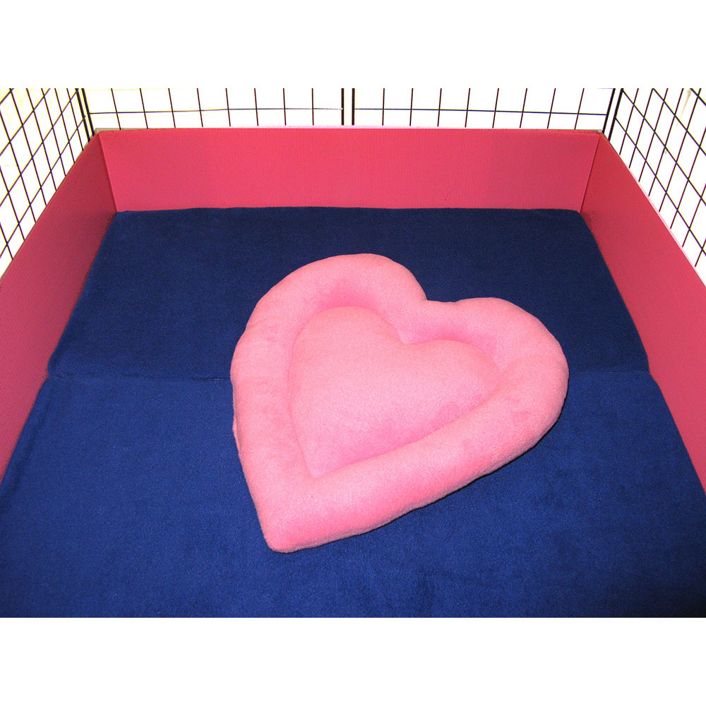 Pink heart in cage