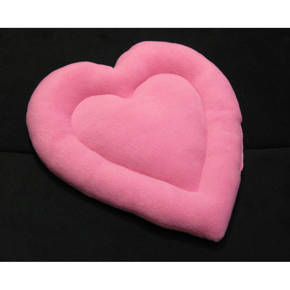 Pink heart on black