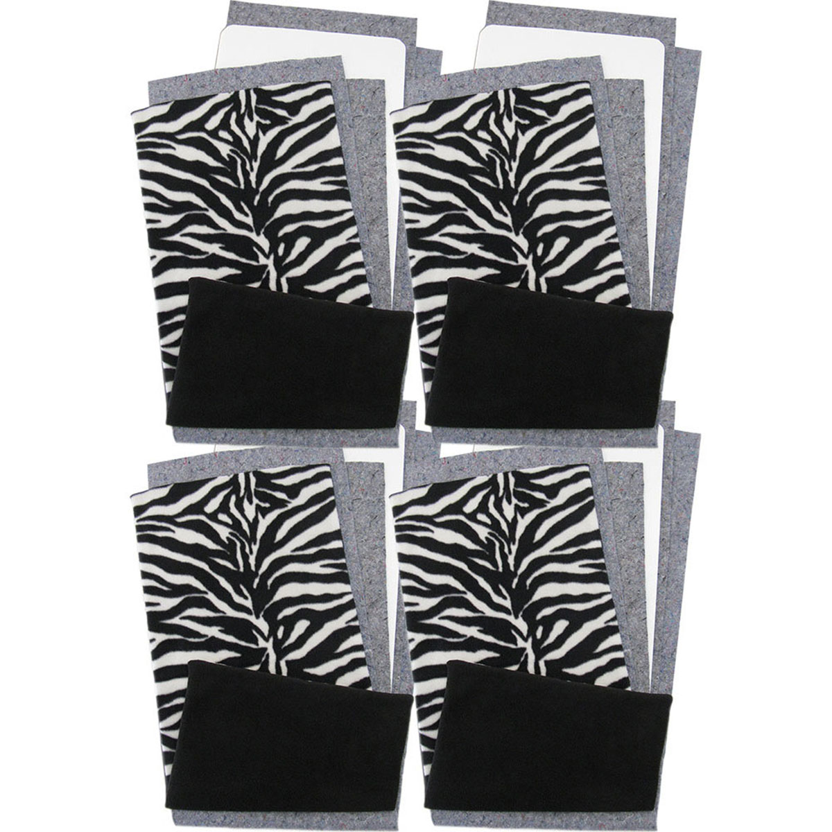 Zebra Fleece Flippers for Guinea Pigs in Zebra