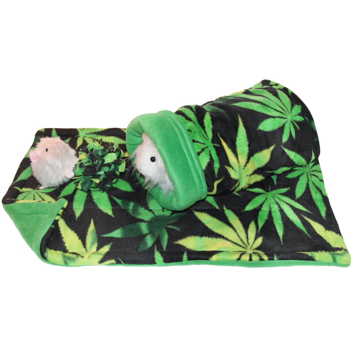 "Cannabis ""Out Time"" Bed, Lap Pad and Toy Bundle for Guinea Pigs"