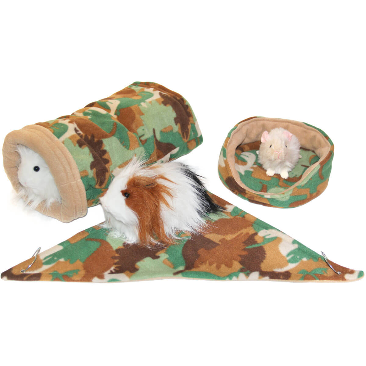 "Small Dino Camo ""Sleep and Snuggles"" Bundle for Guinea Pigs"