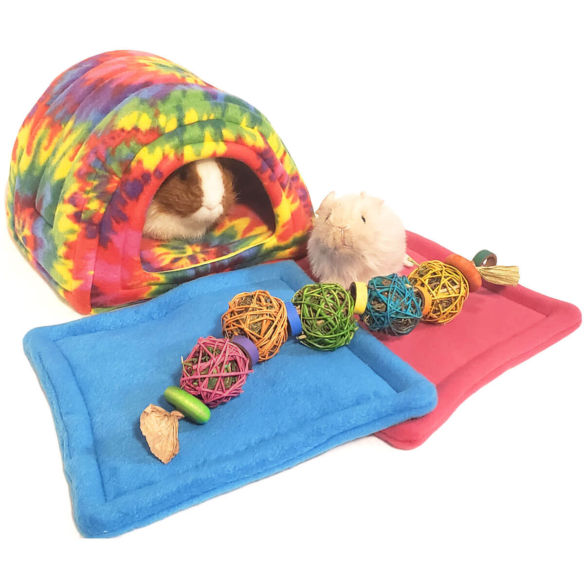 Happy Hippie Bed and Treat Bundle for Guinea Pigs