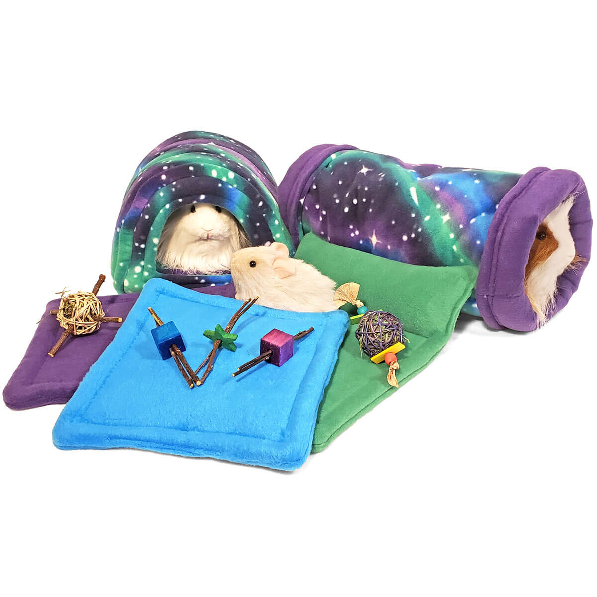 Northern Lights Bed and Treat Bundle for Guinea Pigs