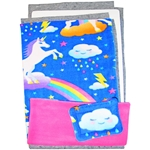 Narrow Upper Loft Fleece Flipper Set in Unicorns
