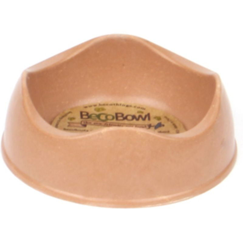 Beco Bowl great for limited feed pellets in brown