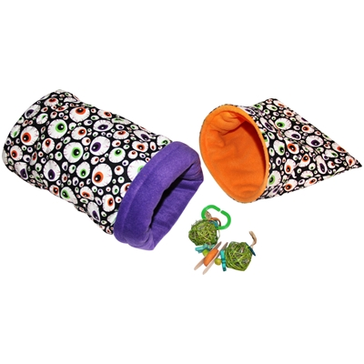 Small Spooky Eyes Bed and Toy Bundle for Guinea Pigs and Other Small Animals