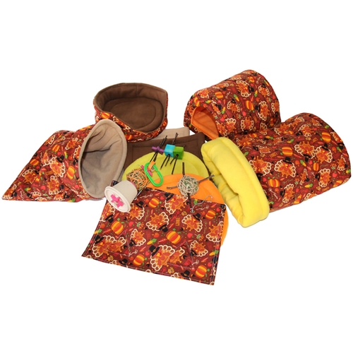 Deluxe Turkeys Cozy and Toy Bundle for Guinea Pigs and Other Small Animals