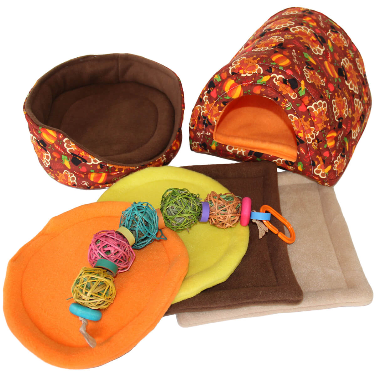 Large Turkeys Cozy and Toy Bundle for Guinea Pigs and Other Small Animals