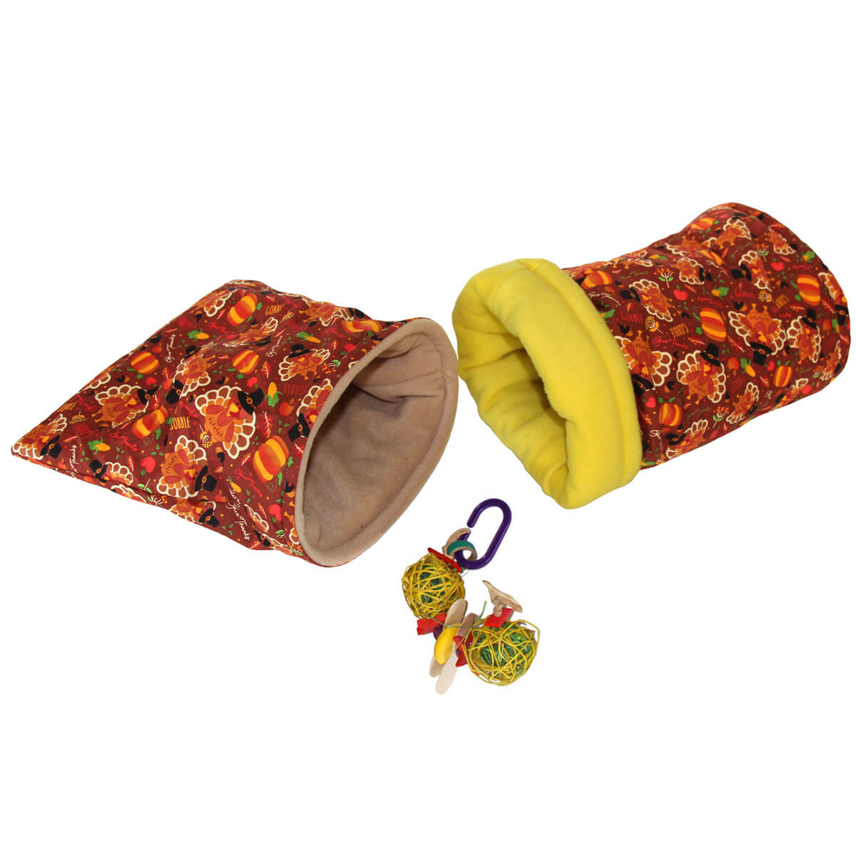 Small Turkeys Bed and Toy Bundle for Guinea Pigs and Other Small Animals