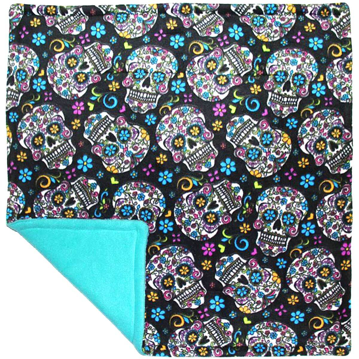 Guinea Pig Cage Liner for Cavy Grazer in Black Sugar Skulls