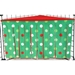 Corner Curtain in Christmas Dots