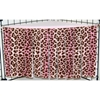 Corner Curtain in Pink Leopard