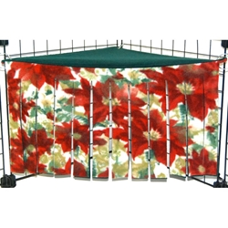 Corner Curtain in Poinsettia