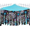 Corner Curtain in Sugar Skulls Black
