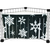 Corner Curtain in Winter Wonderland