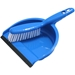 Blue Dustpan and Whiskbroom set