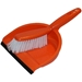 Orange Dustpan and broom