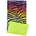 Rainbow Zebra Fleece Flipper Case