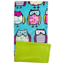 Sketched Owls Fleece Flipper Case