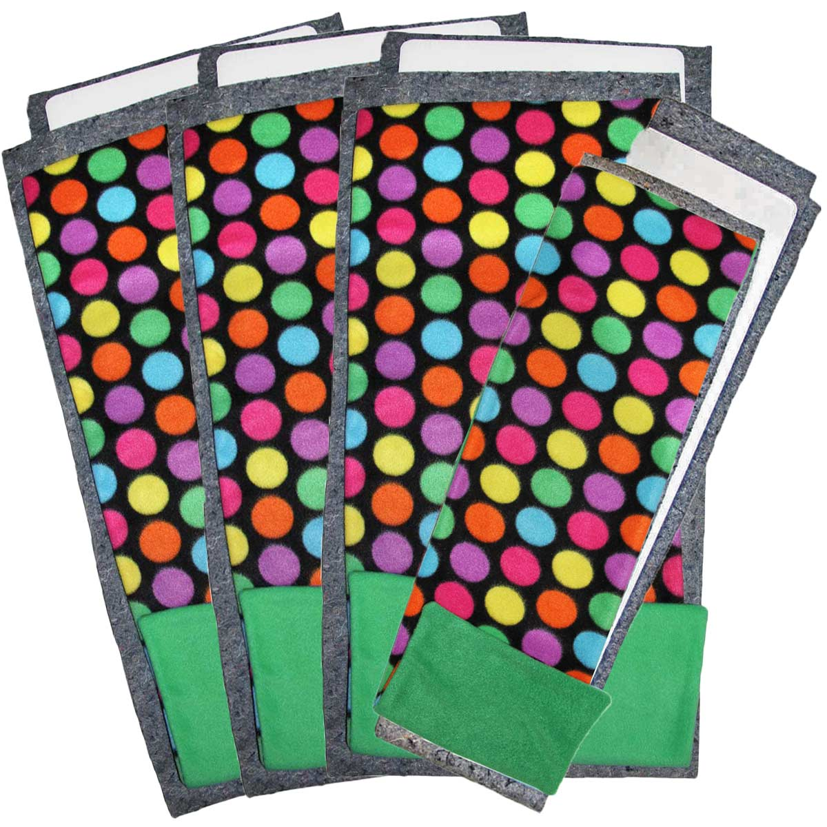Bold Dots Green Flippers Set of 3 and a Half