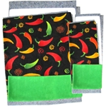 Fleece Flipper Set for Wide Loft - Chili Peppers