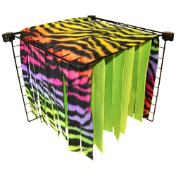 Fleece Forest in Rainbow Zebra