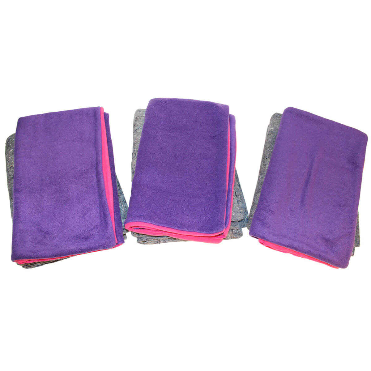 Set of 3 Purple/Fuschia Midwest Fleece Flipper Cases and Inner Lining