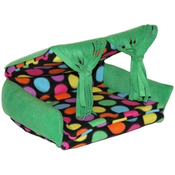 Flippin Fun Futon in Bold Dots Green