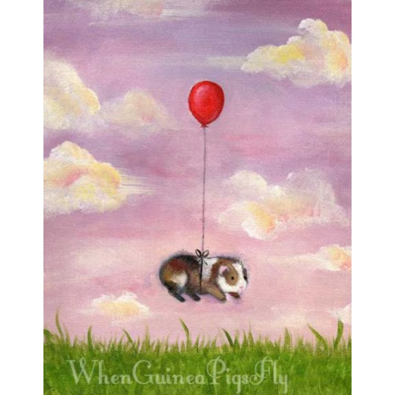 Balloon Ride Guinea Pig Print