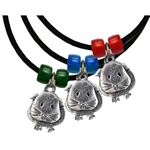 Guinea Pig Pewter Necklace of short-haired guinea pig in 3 colors