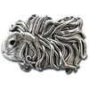 Guinea Pig Pin - Pewter - Long Hair