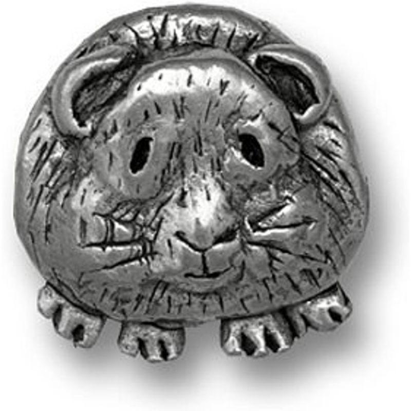 Guinea Pig Pin in Pewter - Short-haired guinea pigs