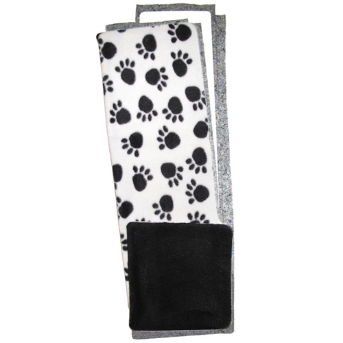 Half Width Fleece Flipper Set in Black Paws