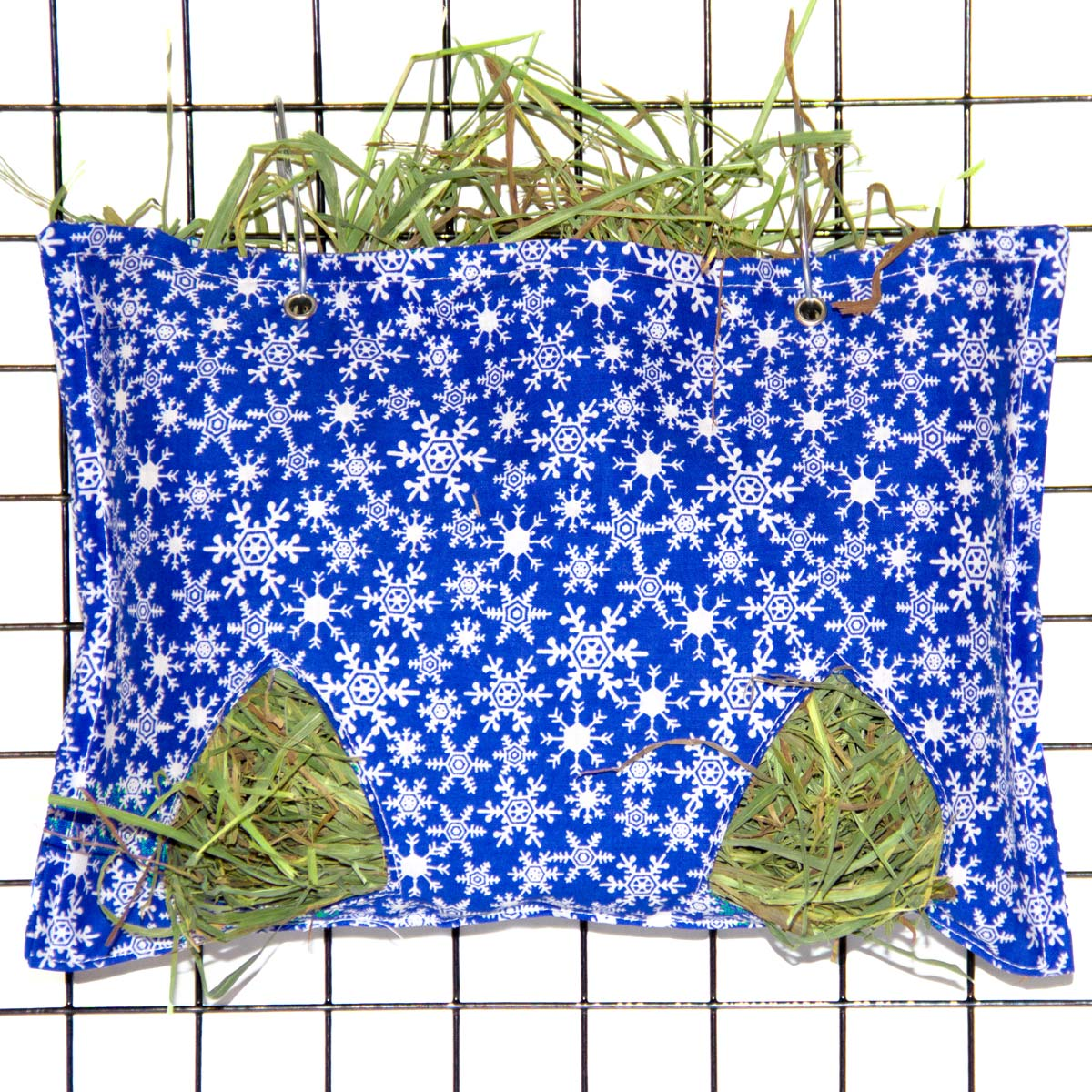 Haybag in Blue Snowflakes