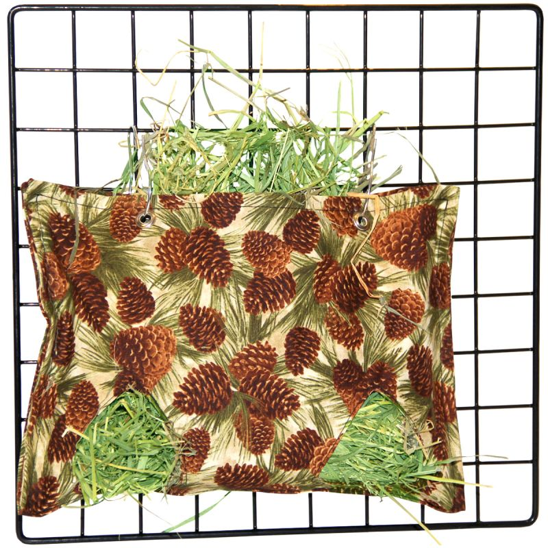 Hay Bag in Pinecones for Guinea Pig Cages