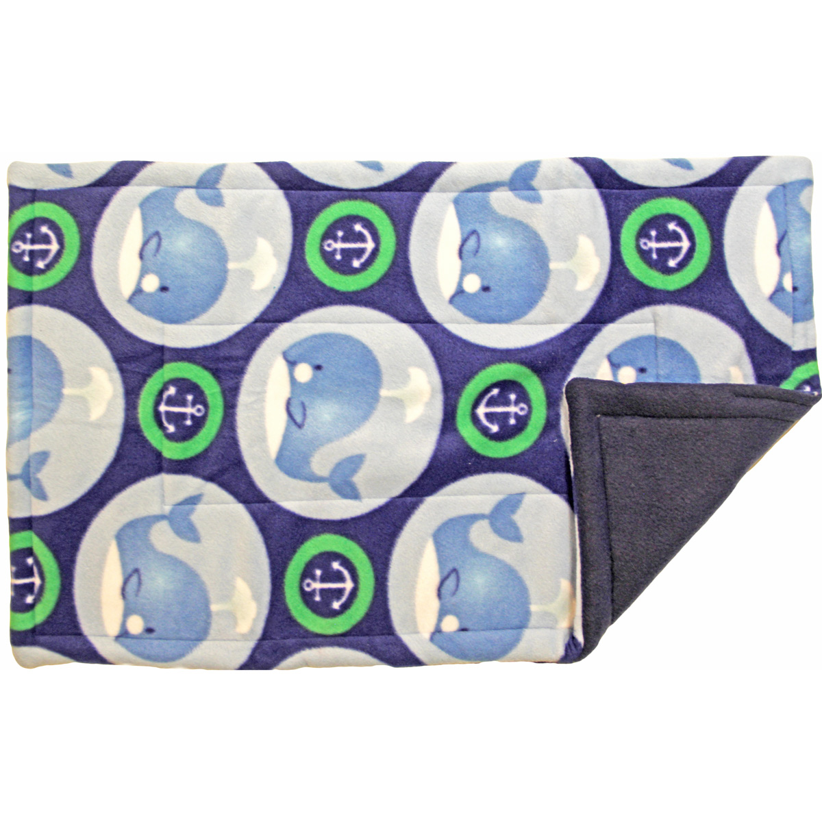 Lap Pad in Green Whales