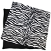 Guinea Pig Cage Liner for C&C Cage in 2x4.5 in Zebra fleece pattern