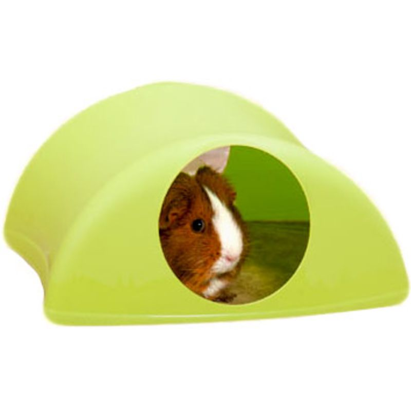 Critter Hollow in lime with guinea pig
