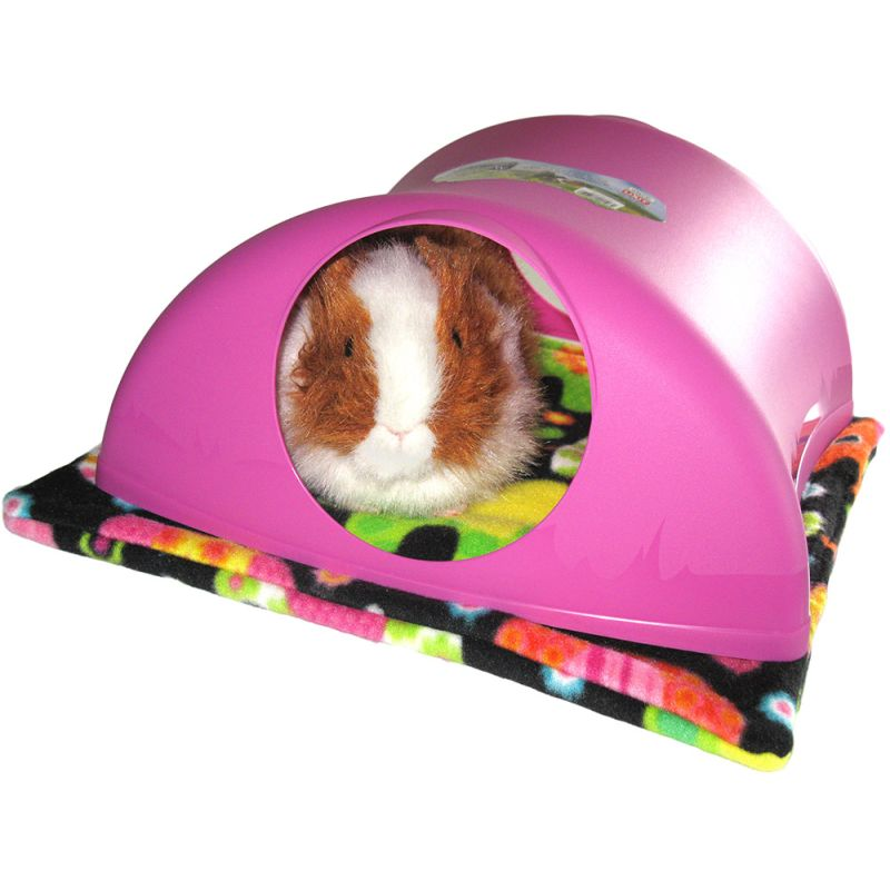 Critter Hollow in pink with guinea pig and pad
