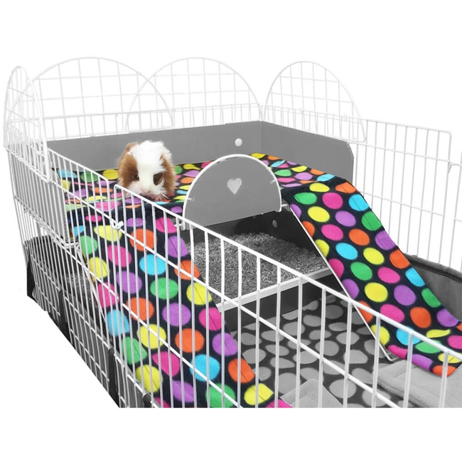 Guinea Pig Cage Liner for Midwest Mezzanine in Sheepy Time