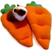 Two Carrot Plush Beds with a Guinea Pig