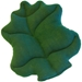 Dark Green Plush Lettuce Bed